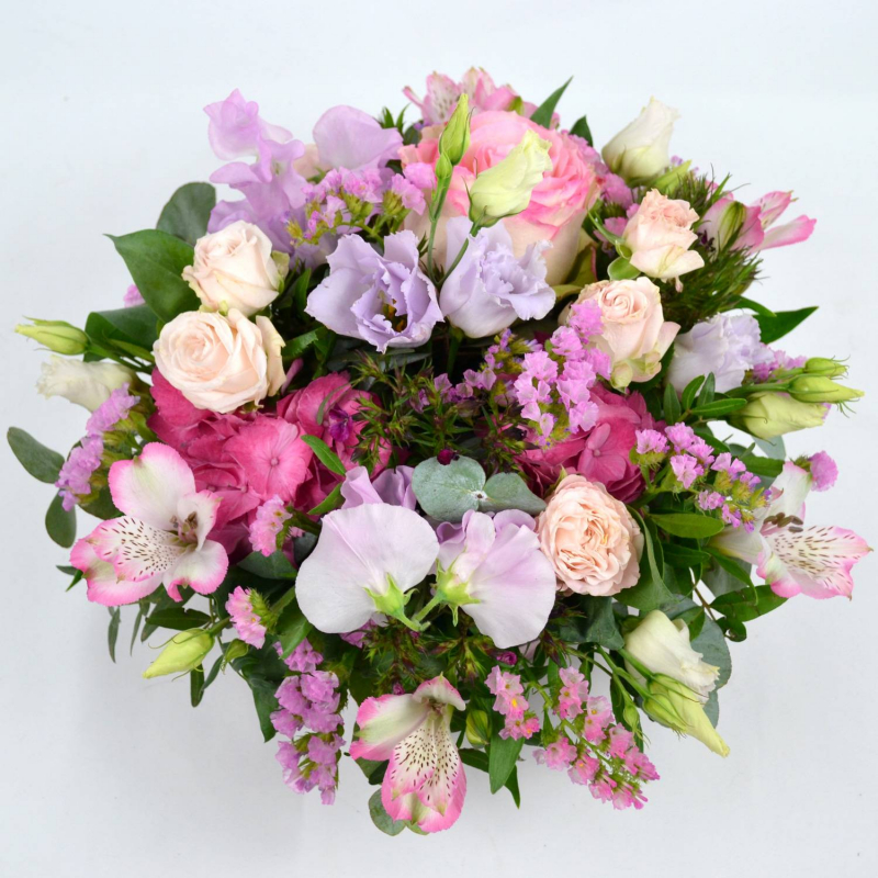 Bouquet rond tendresse (Taille M 55€)